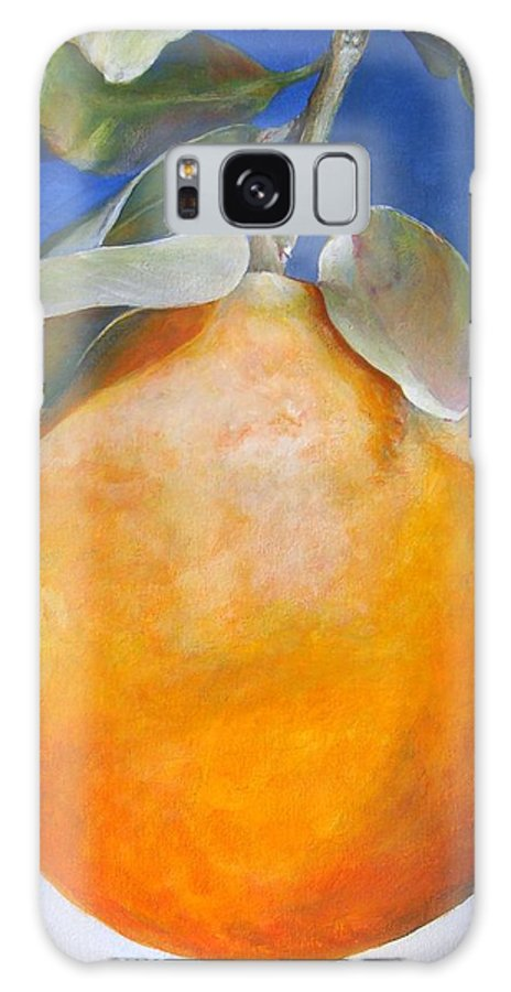 Floral Painting Galaxy Case featuring the painting Une Orange by Muriel Dolemieux