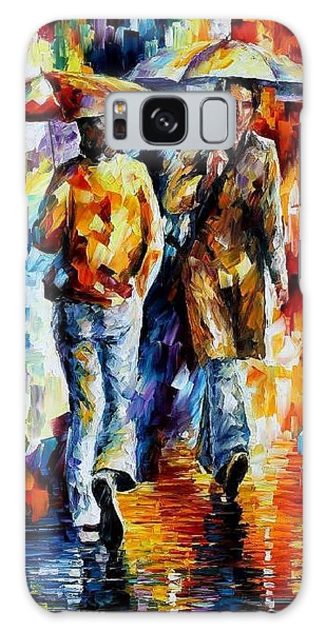 Afremov Galaxy S8 Case featuring the painting Unexpected Meeting by Leonid Afremov