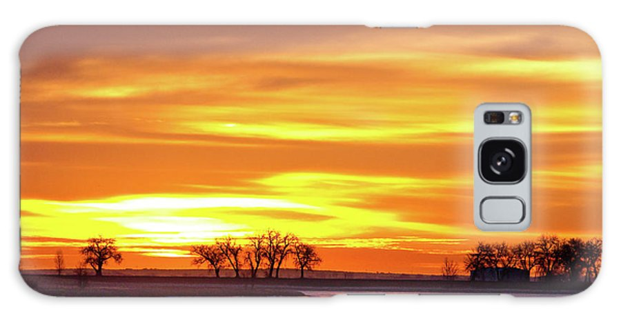 canvas Print Galaxy S8 Case featuring the photograph Union Reservoir Sunrise Feb 17 2011 Canvas Print by James BO Insogna