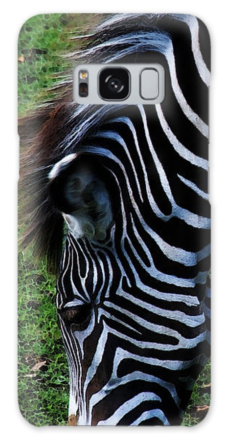 Zebra Galaxy S8 Case featuring the photograph Uniquely Identifiable by Linda Shafer