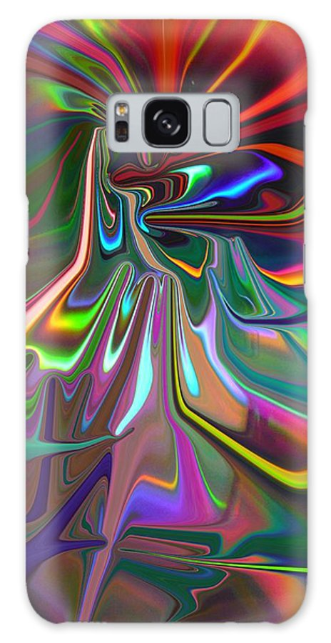 Red Galaxy Case featuring the painting United As One by Florene Welebny