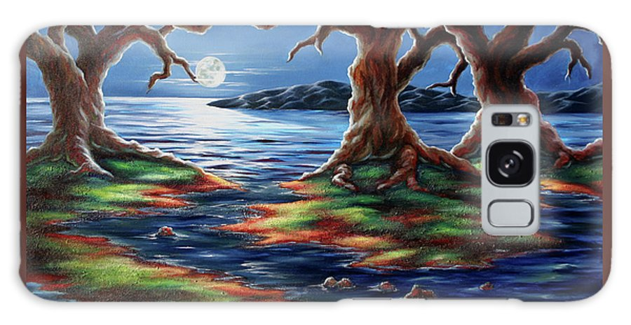 Textured Painting Galaxy S8 Case featuring the painting United Trees by Jennifer McDuffie