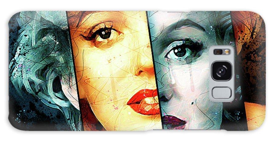 Marilyn Monroe Galaxy Case featuring the digital art Monroe by Gary Bodnar