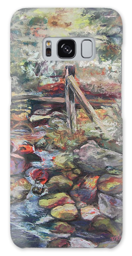 Landscape Galaxy Case featuring the pastel Unseated On Trout Brook by Alicia Drakiotes