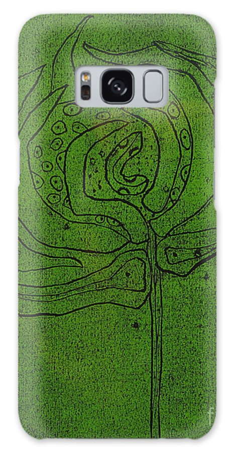 Green Galaxy S8 Case featuring the painting Untitled by Angela Dickerson