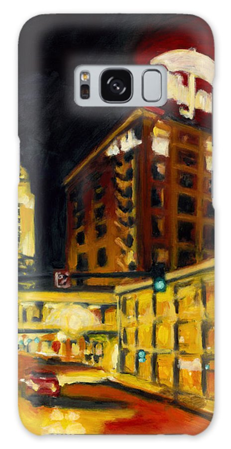 Rob Reeves Galaxy Case featuring the painting Untitled In Red And Gold by Robert Reeves