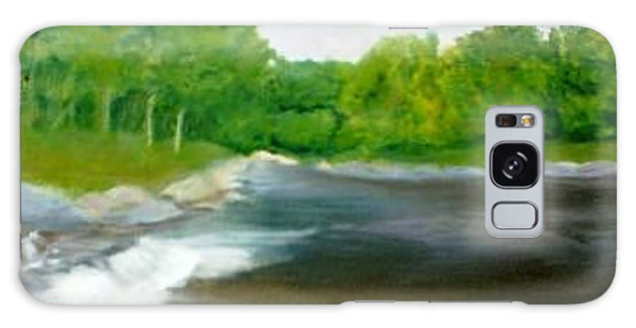 River Galaxy S8 Case featuring the painting Untitled Plein Aire by Sheila Mashaw