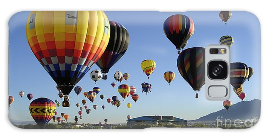 Balloons Galaxy S8 Case featuring the photograph Up And Away by Mary Rogers