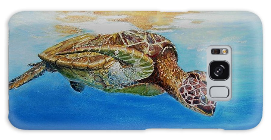 Wildlife Galaxy Case featuring the painting Up For Some Rays by Ceci Watson