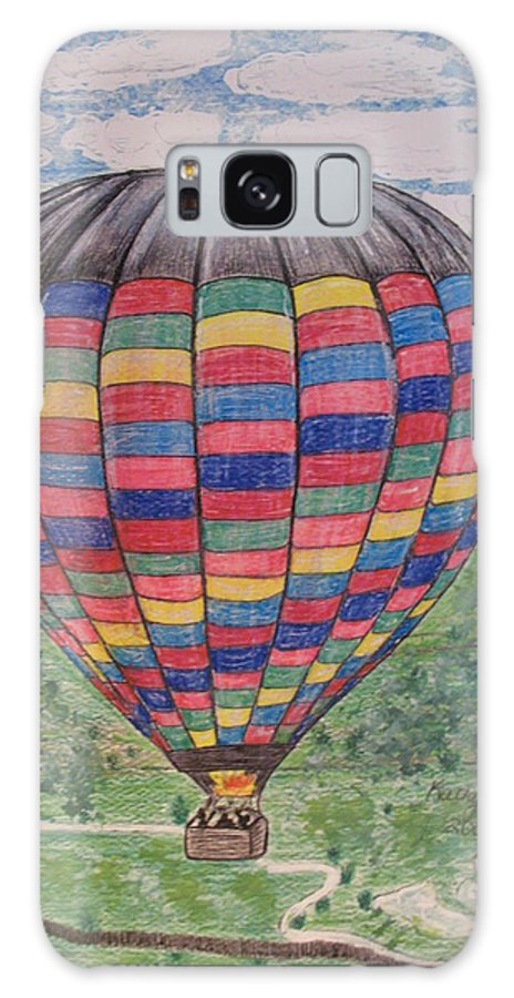 Balloon Ride Galaxy Case featuring the painting Up Up And Away by Kathy Marrs Chandler