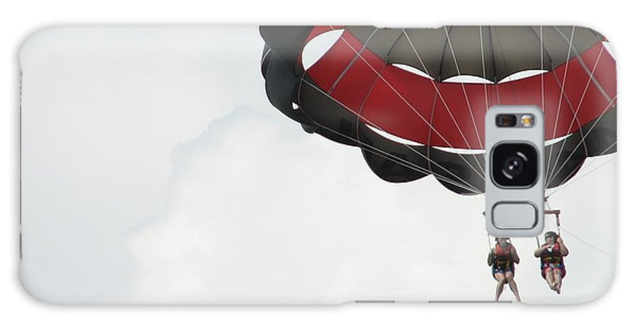 Parasail Galaxy Case featuring the photograph Up Up And Away by Kelly Mezzapelle
