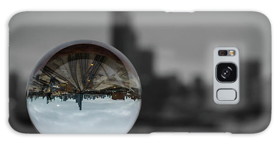 Crystal Galaxy S8 Case featuring the photograph Upside Down Chicago by Med Studio