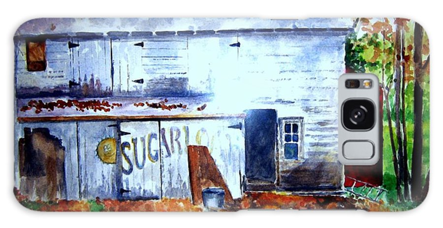 Autumn Galaxy S8 Case featuring the painting Upstate Barn by Sandy Ryan