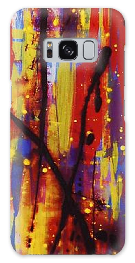 Abstract Galaxy S8 Case featuring the painting Urban Carnival by Lauren Luna