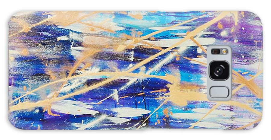 Abstract Galaxy Case featuring the painting Urban Footprint by Lauren Luna