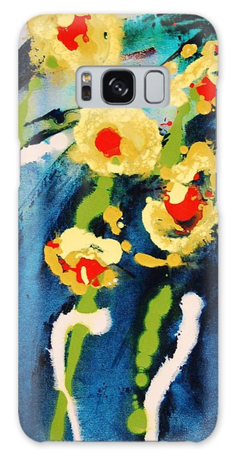 Abstract Galaxy S8 Case featuring the painting Urban Garden by Lauren Luna