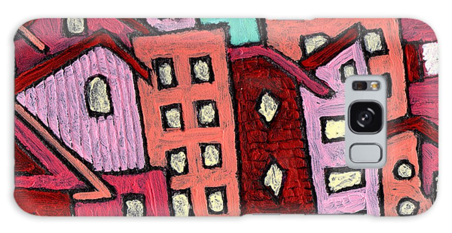 City Scene Galaxy S8 Case featuring the painting Urban Heat by Wayne Potrafka
