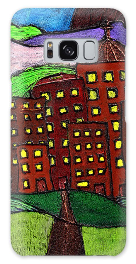 City Scape Galaxy S8 Case featuring the painting Urban Legand by Wayne Potrafka