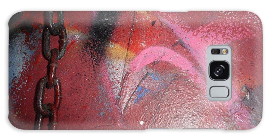 Urban Art Galaxy S8 Case featuring the photograph Urban Love Chain by Chandelle Hazen