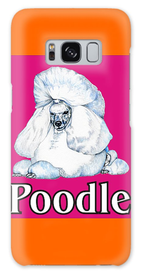 Poodle Galaxy Case featuring the digital art Urban Pop Poodle by Kathleen Sepulveda