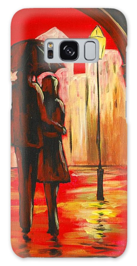 Romance Galaxy S8 Case featuring the painting Urban Romance by Emily Page