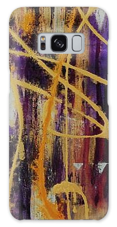 Abstract Galaxy Case featuring the painting Urban Royality by Lauren Luna