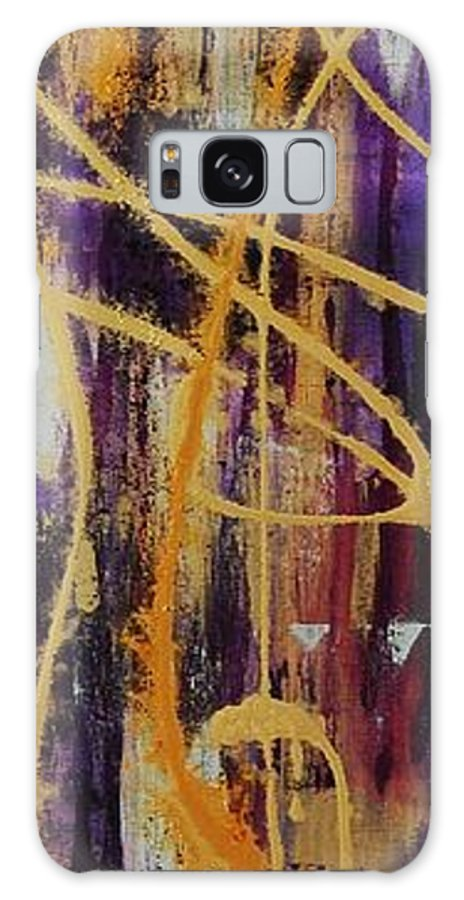 Abstract Galaxy S8 Case featuring the painting Urban Royality by Lauren Luna