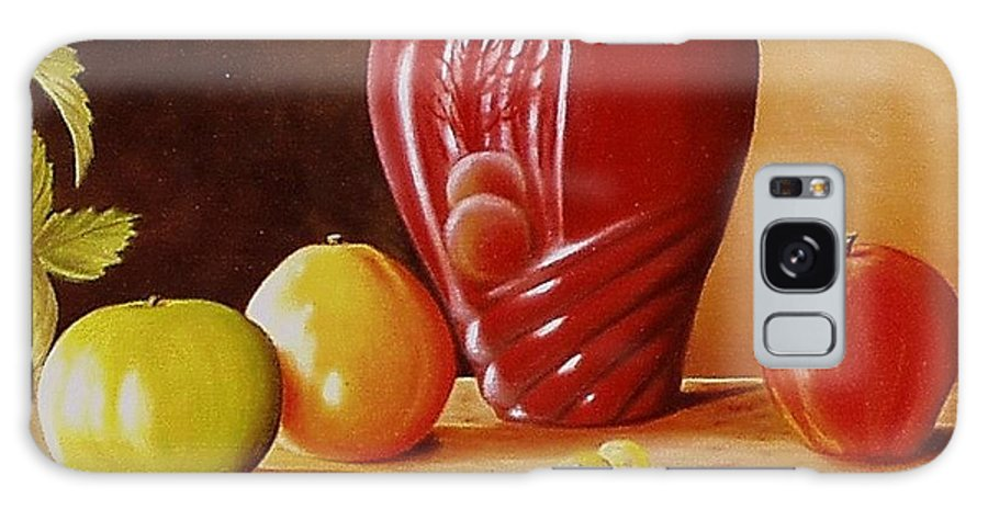 Still Life Galaxy S8 Case featuring the painting Urn An Apple by Gene Gregory