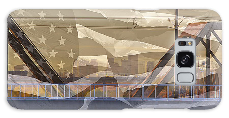 Flag Galaxy S8 Case featuring the photograph Us City Montage by Phyllis Denton