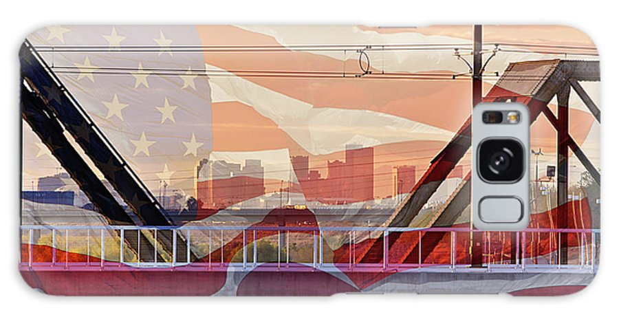 Flag Galaxy S8 Case featuring the photograph Us City by Phyllis Denton