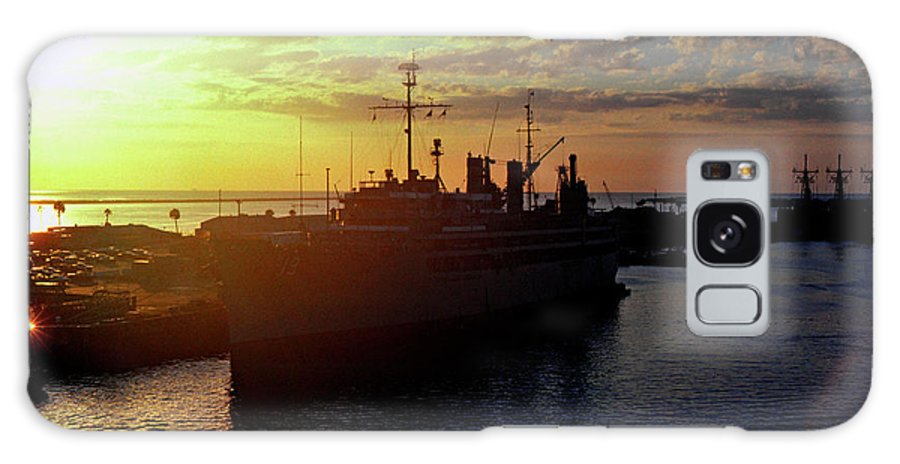 Sunrise Galaxy S8 Case featuring the photograph Us Naval Station Mayport by Thomas R Fletcher