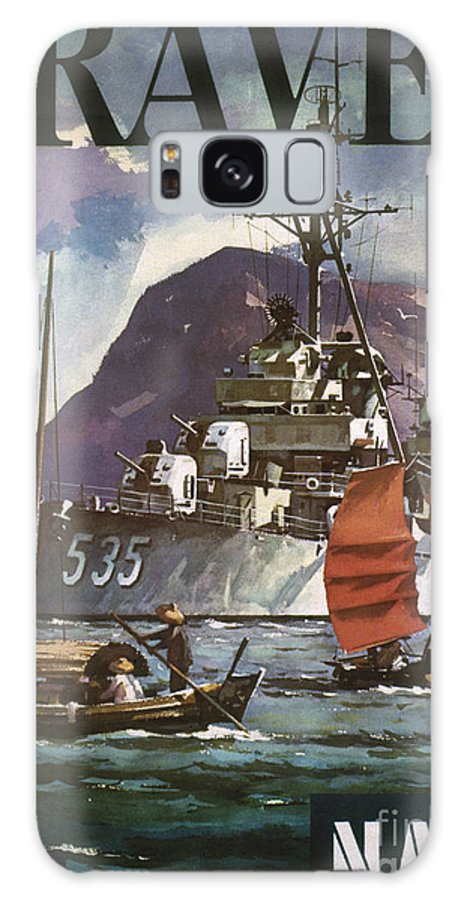 1930s Galaxy S8 Case featuring the photograph U.s. Navy Travel Poster by Granger