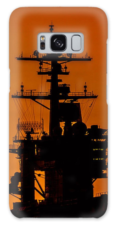 Aircraft Carrier Galaxy S8 Case featuring the photograph Uss Carl Vinson At Sunset 2 by Tommy Anderson