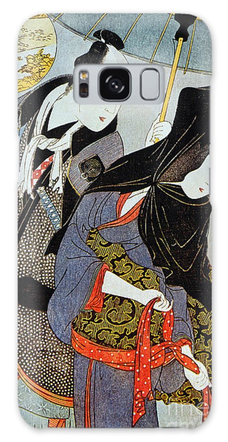 1797 Galaxy S8 Case featuring the photograph Utamaro: Lovers, 1797 by Granger