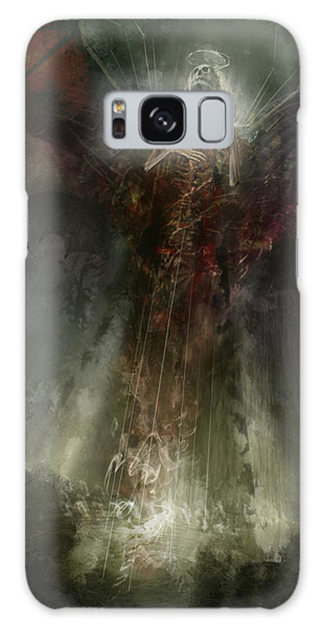 Utherworlds Galaxy S8 Case featuring the painting Utherworlds The Clouding by Philip Straub
