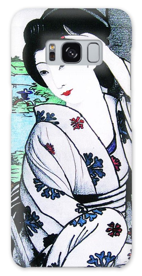 Figurative Galaxy S8 Case featuring the painting Utsukushii Josei by Roberto Prusso