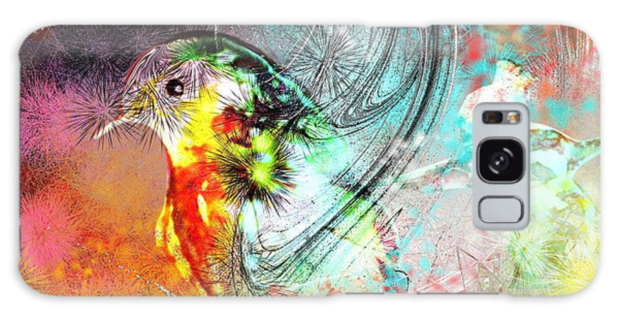 Bird Galaxy Case featuring the painting Vagabond by Miki De Goodaboom