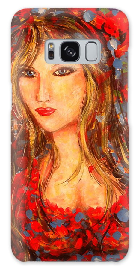 Portrait Galaxy Case featuring the painting Valentina by Natalie Holland