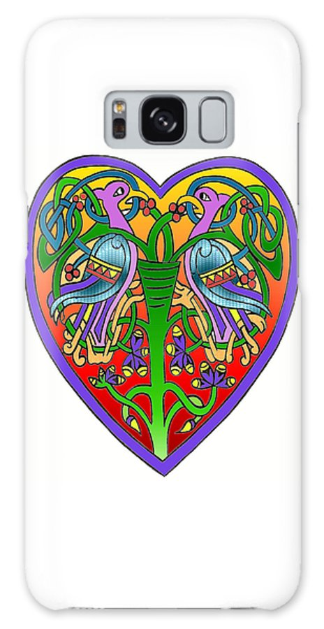 Celtic Galaxy S8 Case featuring the painting Valentine Heart by Frances Gillotti
