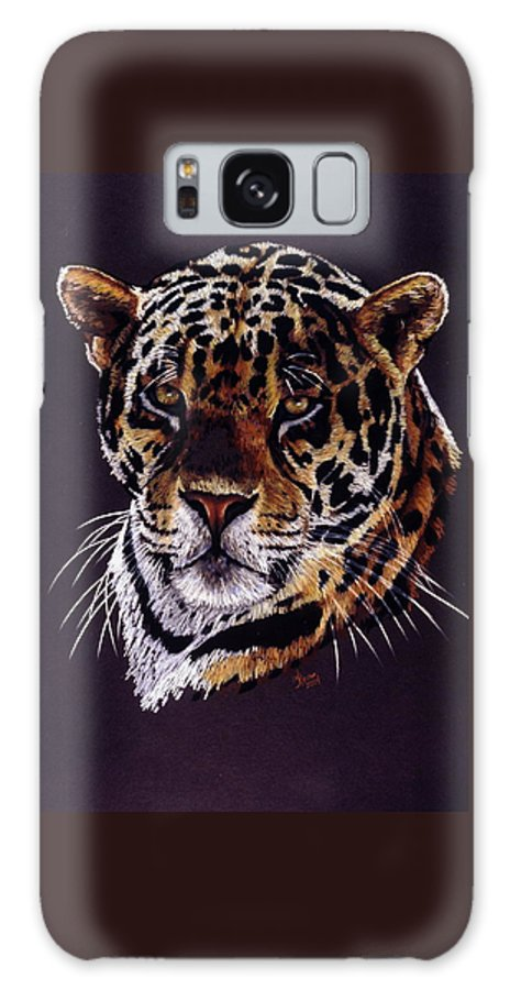 Jaguar Galaxy Case featuring the drawing Valiant by Barbara Keith
