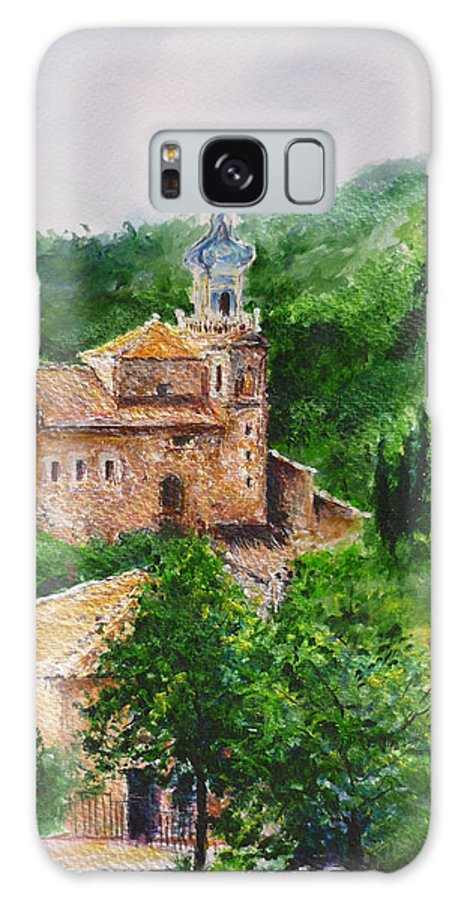 Valley Galaxy S8 Case featuring the painting Valldemossa Pleine Air Painting Comp. by Lizzy Forrester