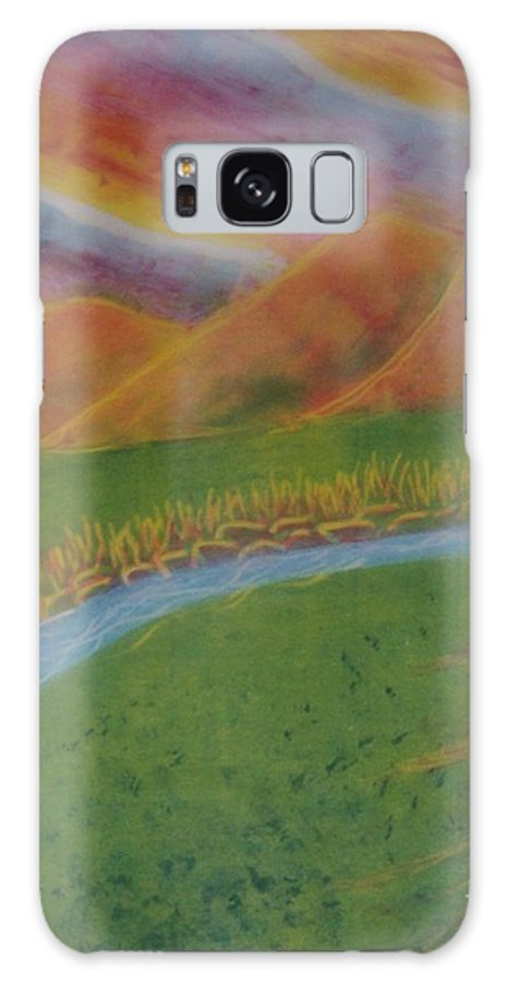 Mountains Galaxy Case featuring the painting Valley by Emily Young