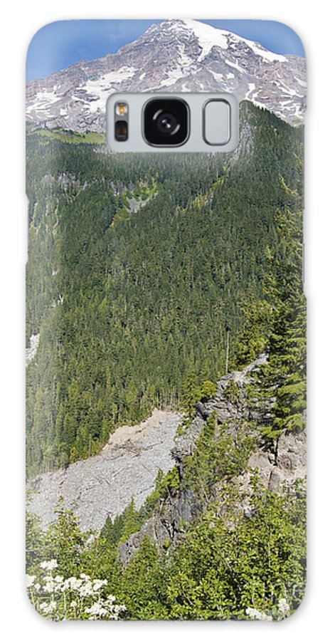 Mt. Rainier Galaxy Case featuring the photograph Valley View Of Mt. Rainier by Larry Keahey