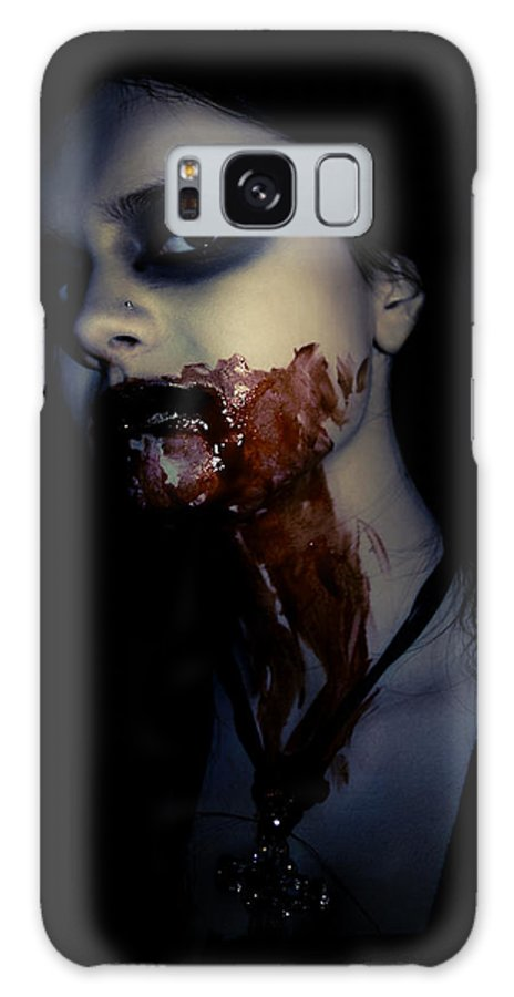 Vampire Galaxy S8 Case featuring the photograph Vampire Feed by Kelly Jade King