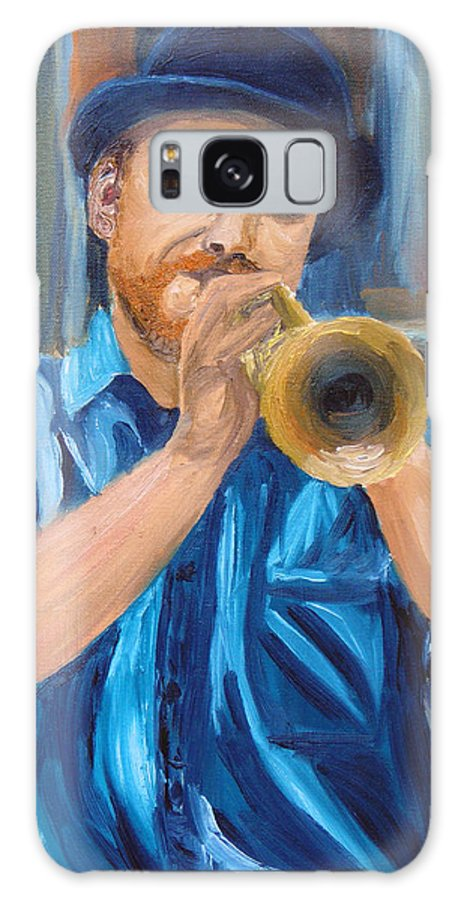 Musician Galaxy Case featuring the painting Van Gogh Plays The Trumpet by Michael Lee