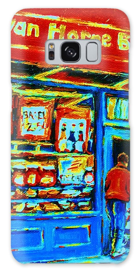 Van Horne Bagel Galaxy S8 Case featuring the painting Van Horne Bagel by Carole Spandau