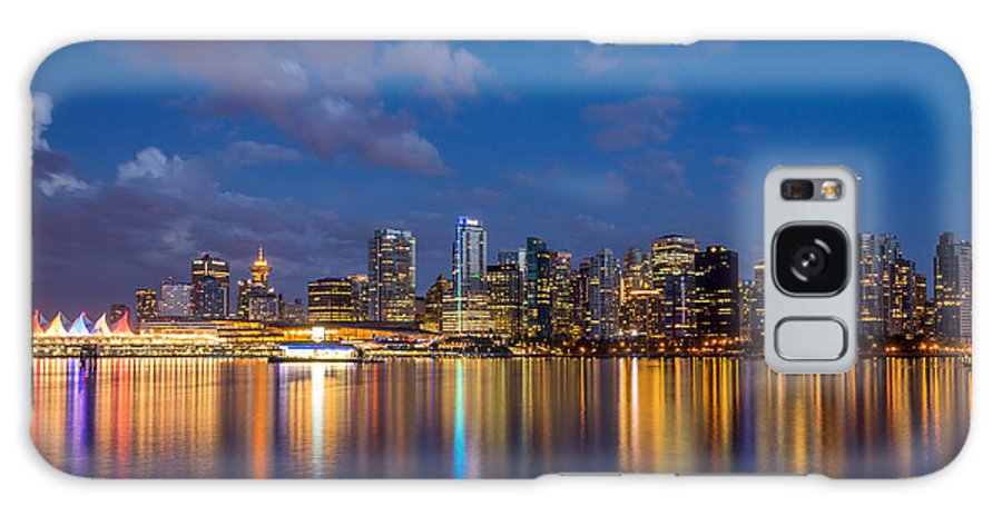 Vancouver Galaxy S8 Case featuring the photograph Vancouver City Twilight by Pierre Leclerc Photography