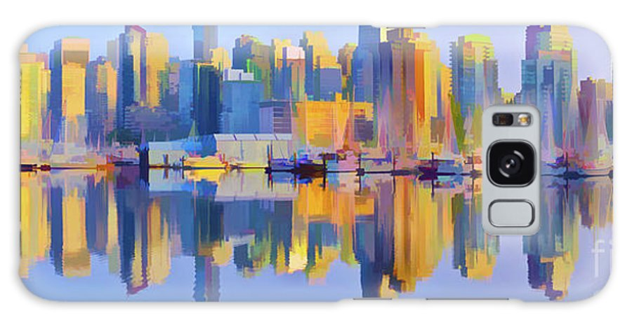 Vancouver Galaxy S8 Case featuring the digital art Vancouver Skyline by Garland Johnson