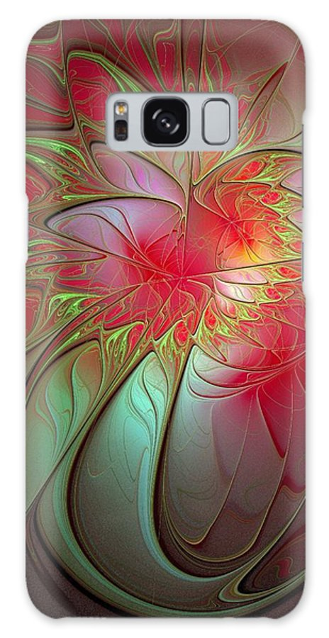 Digital Art Galaxy S8 Case featuring the digital art Vase Of Flowers by Amanda Moore