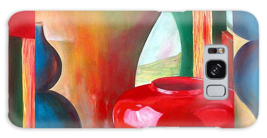 Still Life Galaxy S8 Case featuring the painting Vases by Muriel Dolemieux